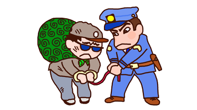 泥棒に間違われる